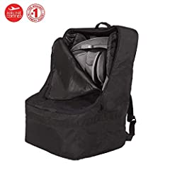 Carrying convenience, comfort, and choices! The Ultimate Car Seat Travel Bag allows families to protect their child's car seat when traveling. The Ultimate is the only car seat travel bag available that offers thick padding on all sides, padd...