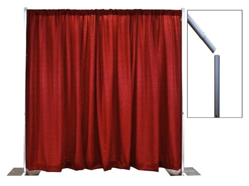 Break Apart Pipe and Drape Banjo Backdrop Kit 8 ft. x 10 ft. - Snow White by P.D.O. (Image #2)