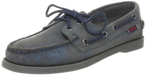 Womens Sebago Dockside Deck Shoes (Sebago Women's Docksides Boat Shoe,Matallic Stone,9.5 M US)