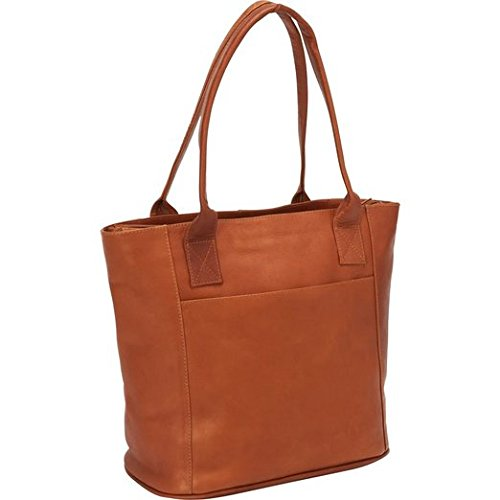 Piel Leather Small Tote Bag, Saddle ()