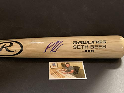 Seth Beer Houston Astros Autographed Signed Blonde Baseball Bat