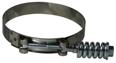 Stainless Steel 6.25-6.56 Diameter Midland 844-625 Stainless Steel Spring Loaded T-Bolt Hose Clamp #172 6.25-6.56 Diameter Midland Metal Size