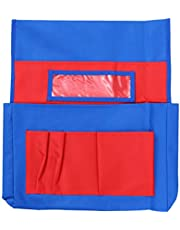 Toyvian Chair Pockets for Classroom Back Storage Pocket Chair Chair Storage Covers Chairback Seat Sack for Classroom Kids School Supplies (Red)