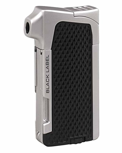 NEW BLACK LABEL by LOTUS-CONDOR TRADITIONAL FLAME PIPE LIGHTER-BLACK&CHROME