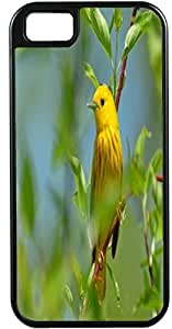 Iphone 5C Case Case For Iphone 5C Cover Customized Gifts Cover Yellow Bird on a Brown branch With green Flowers Design