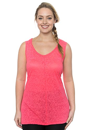 RBX Active Plus Size Workout Burnout Cotton V-Neck Tank Top