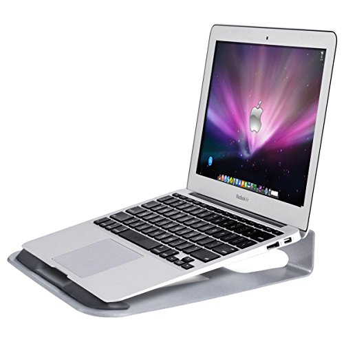 Tangkula Laptop Stand Aluminum Ventilated Update Version Notebook Riser Stand for 11''~15.5'' Laptop Holder Ergonomic Riser Portable Holder for Macbooks All Notebook by Tangkula
