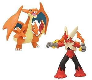 Pokemon x y mega shinka evolution vs figure mega lizardon y charizard glurak dracaufeu vs mega - Pokemon mega evolution blaziken ...
