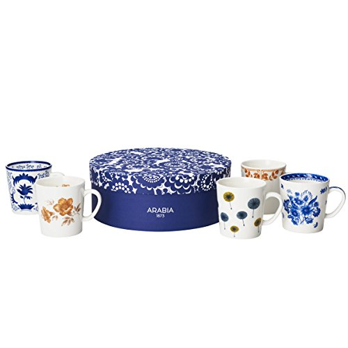 Arabia Finland 100 Mug set of five (5) 1914-1954 LIMITED 2017 - Store Finland