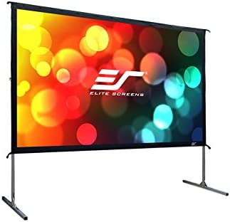 OMS100H2 Elite Screens Yard Master 2 8K 4K Ultra HD 3D Fast Folding Portable Movie Theater Cinema 100 Indoor Foldable Easy Snap Projection Screen 100 inch Outdoor Projector Screen with Stand 16:9