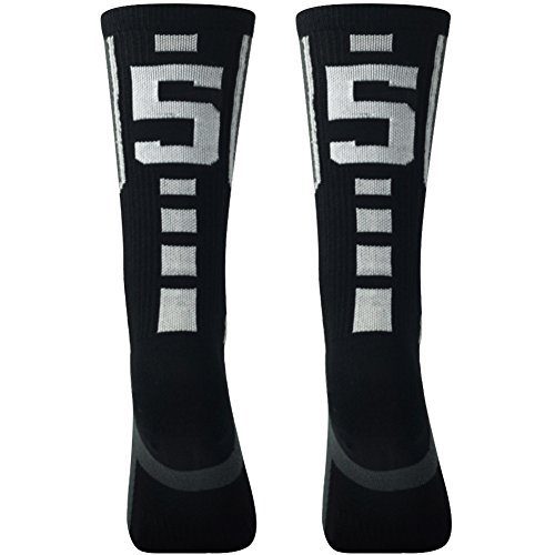ec8fa6a791603 Galleon - Child High Socks,Comifun Custom Team Number Id Crew Mid Calf  Football Soccer Black/White Long Knee Socks 1 Pair,over 18 Ages,