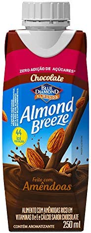 Alimento com Amêndoas Sabor Chocolate Zero Açúcar Almond Breeze 250ml
