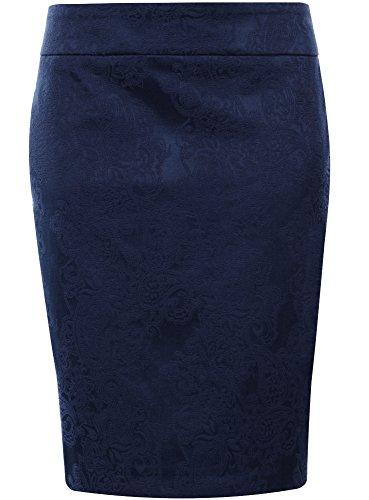 Gonna Donna Tubino Collection in 7900n Blu Jacquard a oodji vHxTqBwzw