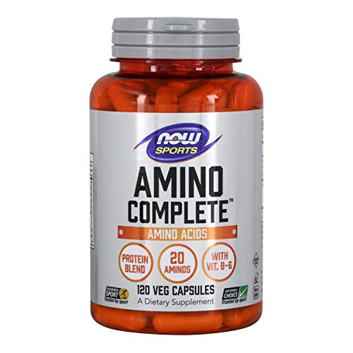NOW Sports Nutrition, Amino Complete, Protein Blend With 21 Aminos and B-6, 120-Capsules