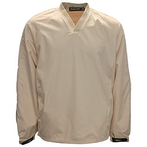 (Dunbrooke Men's V-Neck Pullover Golf Windshirt, X-Large Sand)