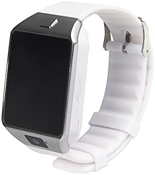 Kobwa DZ09 - Reloj inteligente con Bluetooth para cámara, con ranura para tarjeta SIM/TF, compatible con Android, iOS, iPhone, Samsung, HTC, LG, Sony, Blackberry, Huawei, Motorola, Smartphone, blanco: Amazon.es: Deportes y aire