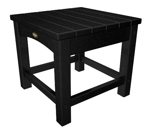 Trex Outdoor Furniture Rockport Club 18-Inch Side Table, Charcoal Black by Trex Outdoor Furniture by Polywood