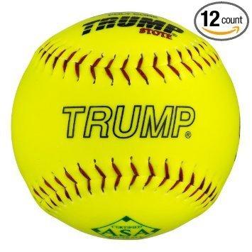 Trump Stote ASA 12' Leather Softballs - 52cor/.300 Compression 1 Dozen / 12 Balls (MP-RP-ASA-Y)