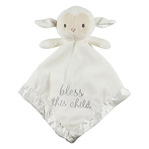 Plush Lamb Blankie, White-Stepping Stones by Stepping Stones