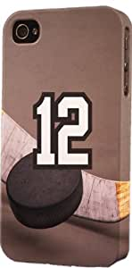 Basketball Sports Fan Player Number 12 Plastic Snap On Decorative iPhone 4/4s Case by lolosakes