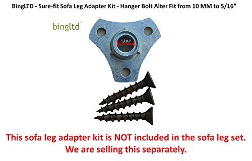 "Sofa Feet - 6"" Unfinished Profile Hardwood Sofa Legs - Set of 4 (Aster-UNF-FBA)"