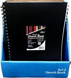 Sketch Book, Poly Cover, 9''x 12'', 75 Sheets, Case Pack of 24, Ideal for Bulk Buyers