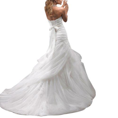 George Bride elegante tuell ueber satén Capilla Tren Vestidos de novia Vestidos de Boda Beige