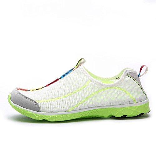 Walking MIXSNOW Casual Mesh White Sneaker Water Pool Slip Shoes Swimming Mens Aqua On Beach Sports Green 1rwq0g1