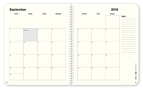 Ultimate Student Planner 2018-2019 ClassTracker Academic Daily Planner Calendar – Sturdy Cover, Portable 7x8.5, Black – Organize Time, Set Goals, Finish Assignments & Increase Productivity by ClassTracker (Image #3)