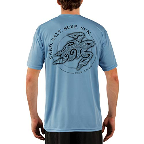 - SAND.SALT.SURF.SUN. Polynesian Sea Turtle Men's UPF 50+ Short Sleeve T-Shirt Large Columbia Blue