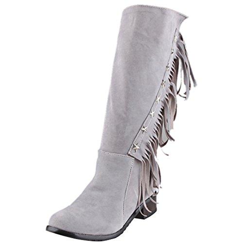 AIYOUMEI Women's Classic Boot Grey 2TyfF4