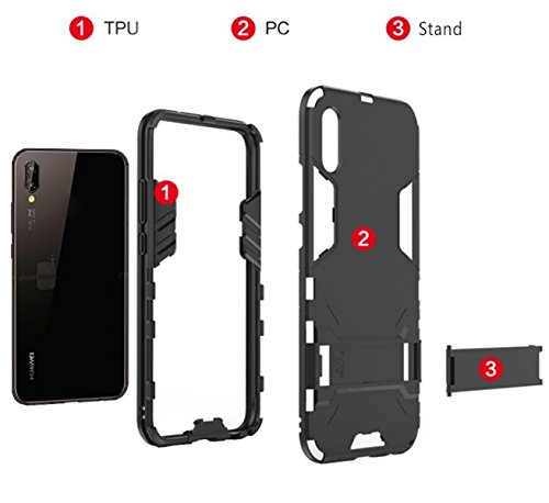 Lite Hull Armadura P20 en 2 1 Huawei Funda TPU PC h qttPHWc