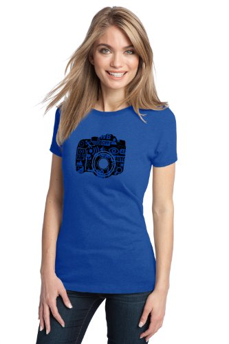 STYLIZED DSLR CAMERA DESIGN Ladies' T-shirt / Photography, Photographer Tee