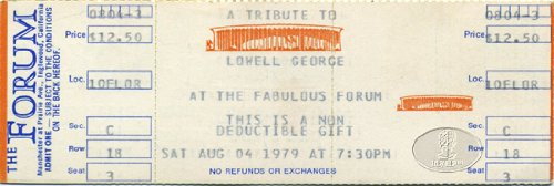 LOWELL GEORGE TRIBUTE 1979 Unused Concert Ticket LINDA RONSTADT Little - Tickets Browne Jackson