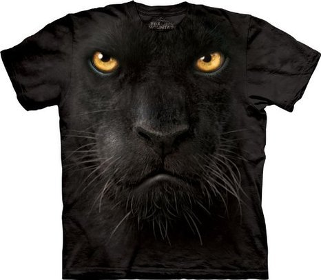 (Black Panther Face The Mountain Tee Shirt Adult XL)