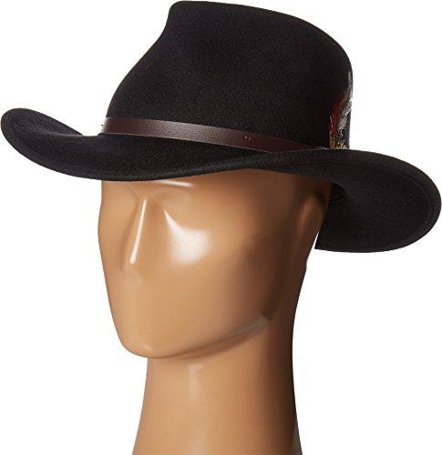 Scala Classico Men's Crushable Felt Outback Hat, Black, Medium ()