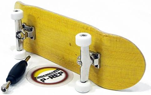 Wooden Fingerboard Deck Yellow Peoples Republic