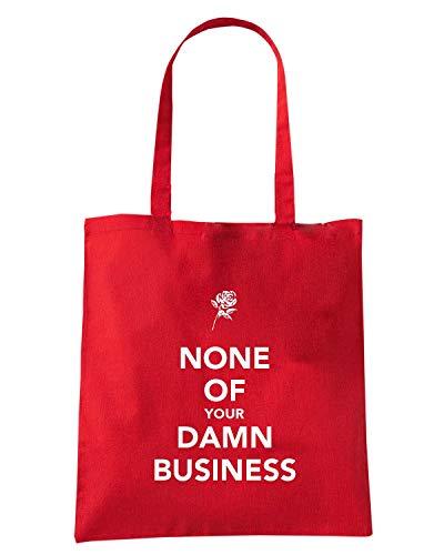 Speed Shirt Borsa Shopper Rossa TKC3982 NONE OF YOUR DAMN BUSINESS