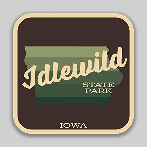 (Idlewild State Park Iowa Decal Sticker | 4-Inches by 4-Inches | 5-Pack Premium Quality Vinyl Sticker | UV Protective Laminate | SP1033)