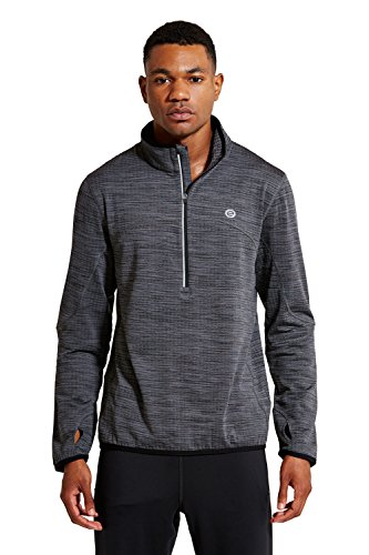Sweater Mens Gunmetal (Etonic Men's Fluid Half-Zip Pullover Sweater, Gunmetal Heather, Large)