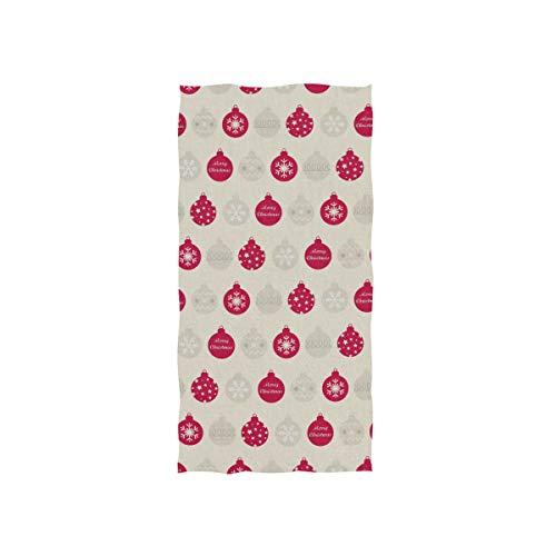 MALPLENA Christmas Red Lamp Bulb Pattern Quality Face Towels?Multi-Purpose Towels