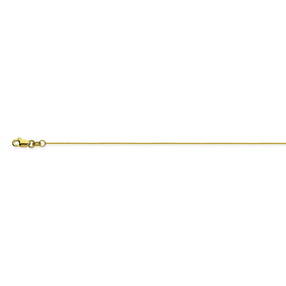 18K Yellow Gold 0.7 Cable Chain in 16 inch 18 inch