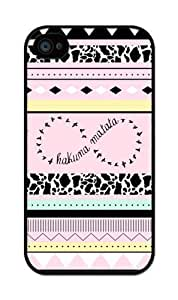 iZERCASE Hakuna Matata Infinity on Light Pink Color Hard iPhone 4 / iPhone 4S Case - Fits iPhone 4, iPhone 4S T-Mobile, AT&T, Sprint, Verizon and International WANGJIANG LIMING