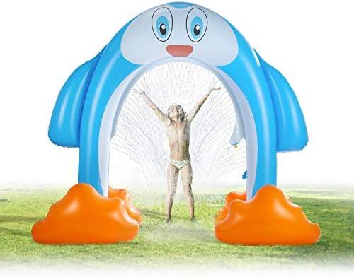 SainSmart Jr. Inflatable Arch Sprinkler Penguin + 37 PCS Wooden Train Set Bundle