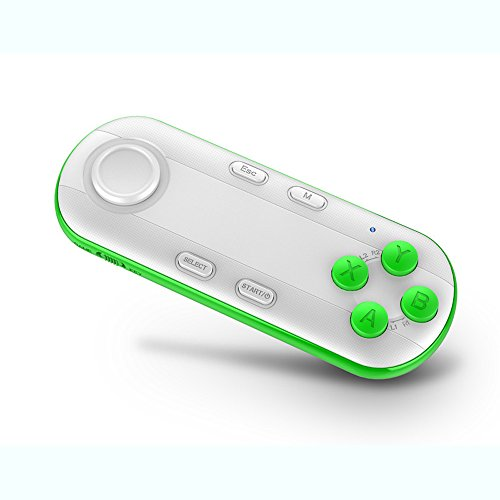 Wireless Bluetooth Gamepad, Geekercity Universal Remote Game Controller 3D VR CASE Camera Shutter PC Mouse Flip Pen Selfie Stick Timer for iPhone IOS Android Samsung PC (Nerf Gun Camera Mount)