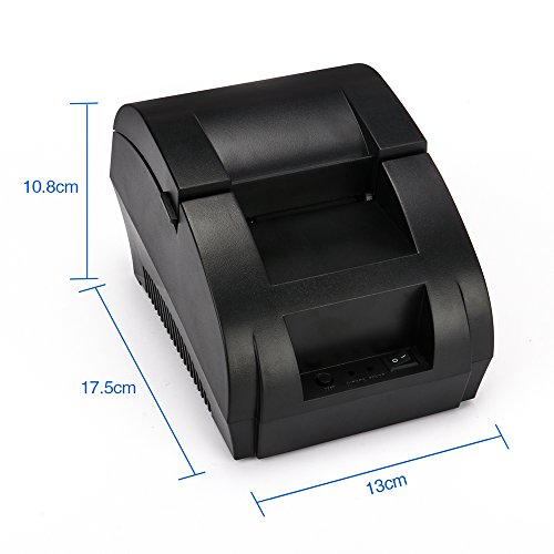 TEROW Thermal Receipt Printer Print Labels 58mm Mini Portable High Speed Printing Compatible with ESC / POS Print Commands Set,Easy to Setup