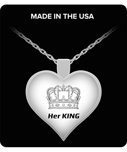HER KING NECKLACE - Couples Funny Coffee Mug Set 11oz - Unique Wedding Gift For Bride and Groom - His and Hers Anniversary Present Husband and Wife - Engagement Gifts For Him and Her - Valentines Day