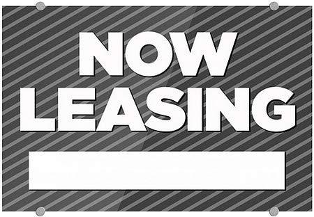 Stripes Gray Premium Acrylic Sign CGSignLab Now Leasing 36x24