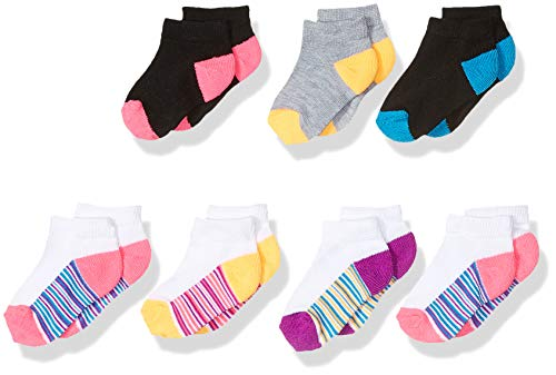 Fruit of the Loom Girls Toddler Everyday Active Bonus Pack Low Cut Socks 7 Pair