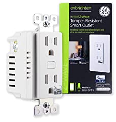 Transform any home into a smart home with the GE Z-Wave Plus Wireless Smart Lighting Control Duplex Receptacle. The GE Z-Wave duplex receptacle enables wireless control of on/off functions from the Z-Wave controlled outlet, and is compatible ...